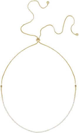 Crystal & Box Chain Choker Necklace
