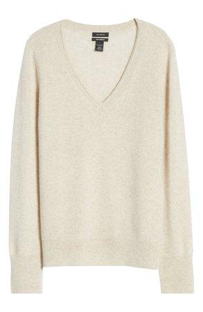 Halogen® V-Neck Cashmere Sweater   Nordstrom