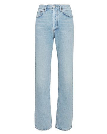 AGOLDE Lana Low-Rise Straight-Leg Jeans | INTERMIX®