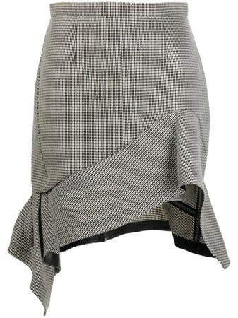 Alexander Wang Deconstructed Houndstooth Mini Skirt - Farfetch