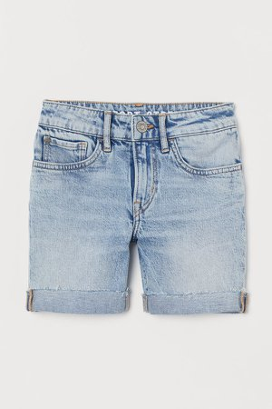 Comfort Stretch Denim Shorts - Blue