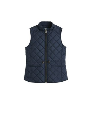 MANGO Quilted zipper gilet