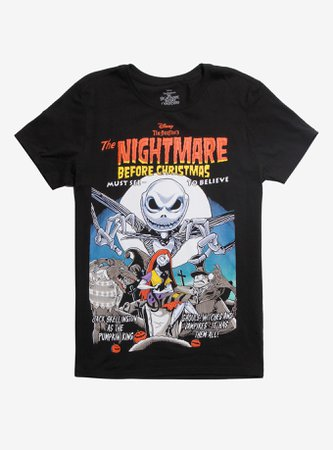 The Nightmare Before Christmas Vintage Movie Poster T-Shirt