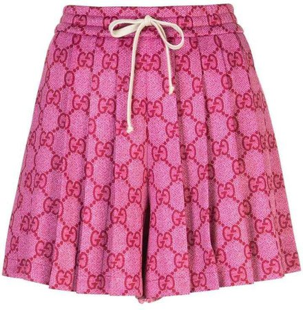 Gucci GG Supreme pleated skirt