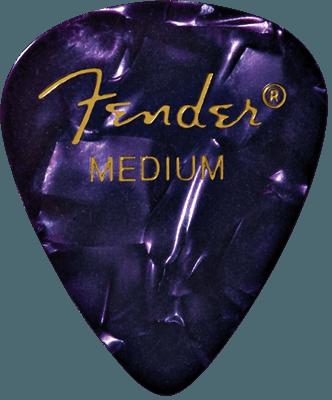 Fender guitar pick 351 Shape, Purple Moto, Medium (12)
