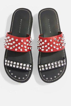FIERCE Flat Sandals   Topshop