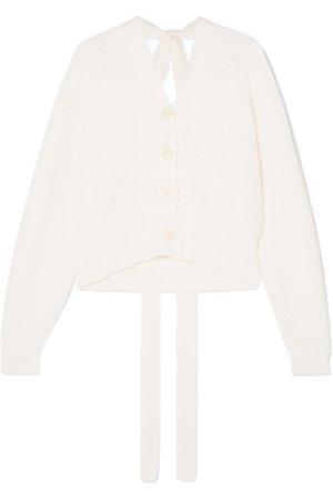 ADEAM | Cold-shoulder cotton-blend cardigan | NET-A-PORTER.COM