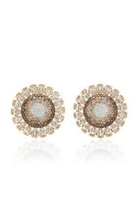 Martin Katz I8K Gold Cognac Diamond Earrings