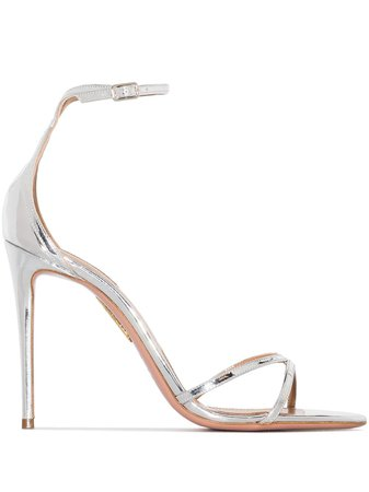 Aquazzura Purist 105mm leather sandals with Express Delivery - Farfetch