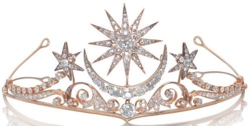 diamond moon and stars tiara