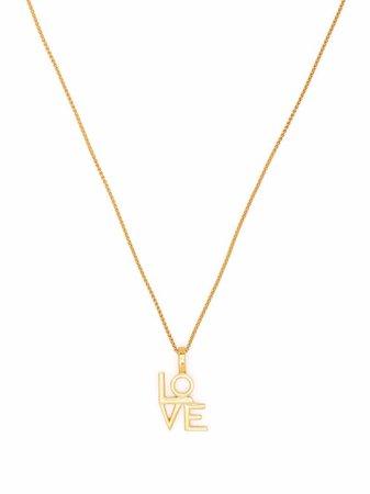 Saint Laurent 'love' Pendant Necklace - Farfetch