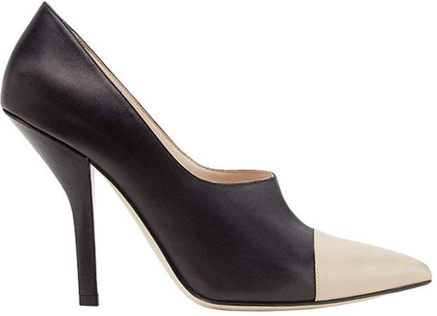 curved heel pumps