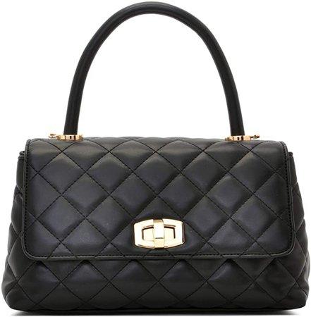 Quilted Flap Cross Body Handbags, Designer Inspired Convertible Style handbag Purses For Women (Black): Handbags: Amazon.com