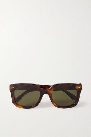 Tortoiseshell Square-frame tortoiseshell acetate sunglasses | Gucci | NET-A-PORTER