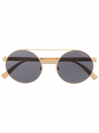 Shop Versace Eyewear round-frame sunglasses with Express Delivery - FARFETCH