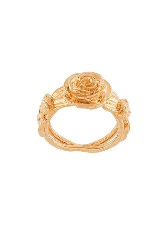 Versace, Rose embossed ring