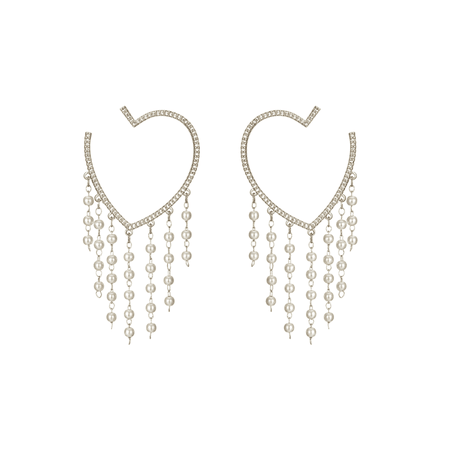 JESSICABUURMAN – MOVOP Heart Fringed Earrings - Pair