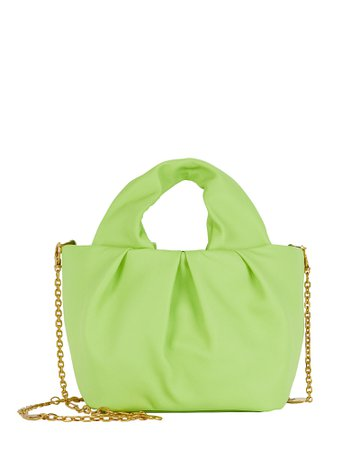 STAUD Mini Lera Folded Leather Bag | INTERMIX®