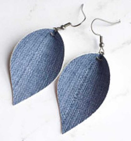denim earrings