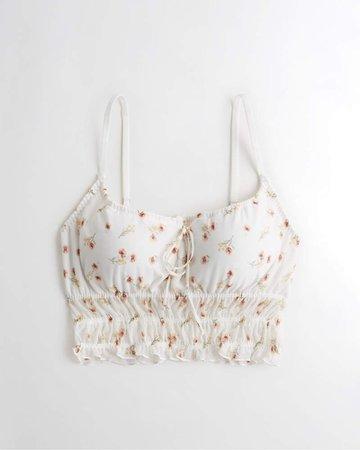 Girls Gilly Hicks Ruffle Mesh Longline Bralette | Girls New Arrivals | HollisterCo.com white