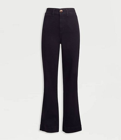 Slim Wide Leg Jeans in Washed Black Wash
