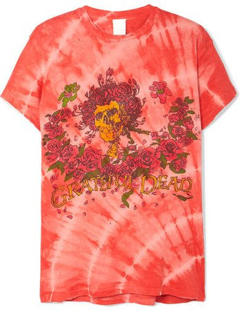 Grateful Dead Distressed Printed Cotton-jersey T-shirt - Red