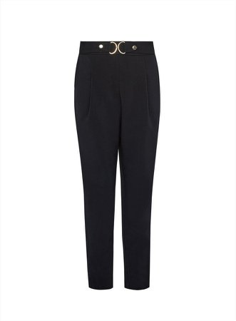 Black Tailored Snaffle Trousers