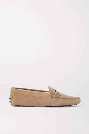 Gommino Suede Loafers - Beige