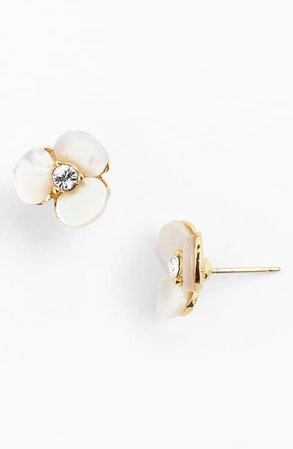 kate spade new york 'disco pansy' stud earrings | Nordstrom