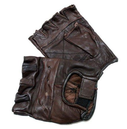 leather gloves fingerless - Google Search