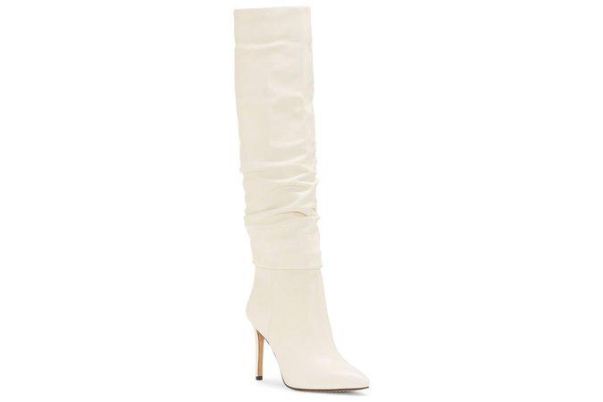celine white long boots