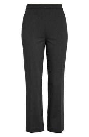 Halogen® Kick Flare Ponte Knit Crop Pants | Nordstrom