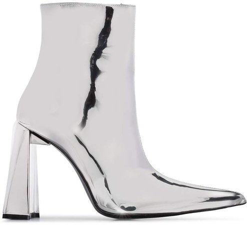 110mm metallic ankle boots