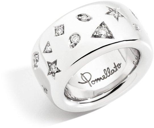 Iconica Large Diamond Band Ring