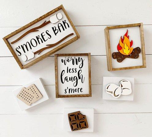 Smores sign / campfire signs / 3D signs / smores bar /   Etsy