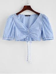 blue blouse gingham - Google Search