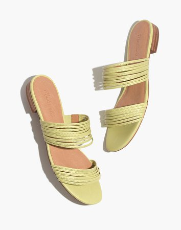 The Meg Slide Sandal in Leather