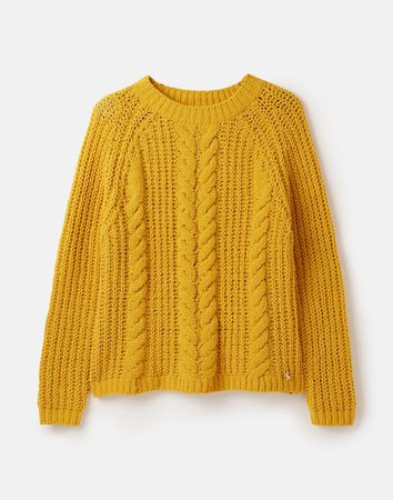 Seaford GOLD Relaxed Fit Chenille Cable Sweater | Joules US