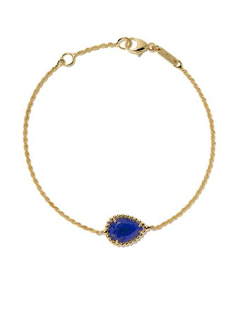 Boucheron 18kt yellow gold Serpent Bohème lapis lazuli S motif bracelet - Farfetch