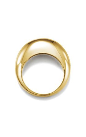14k Gold-Plated Volume Round Ring By Numbering | Moda Operandi