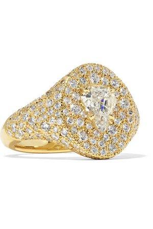 Jemma Wynne   18-karat gold diamond signet ring   NET-A-PORTER.COM