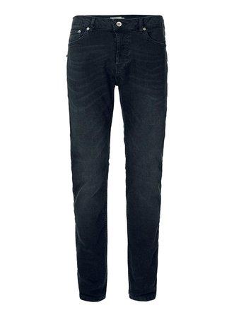 Dark Smokey Wash Gray Stretch Slim Jeans