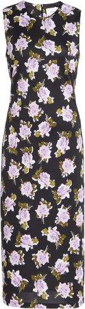 Erdem Clarys Floral Midi Dress