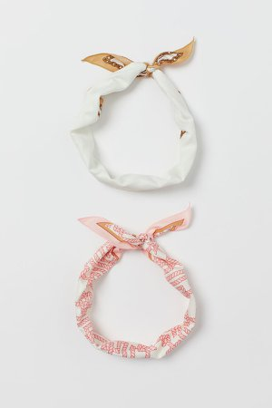 2-pack Scarves/Hairbands - Pink