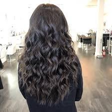 long wavy black hair
