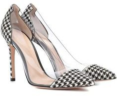 Houndstooth Leather Pumps by MICHAEL Michael Kors