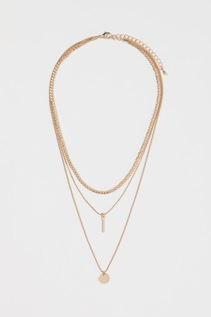 Triple-strand Necklace - Gold colored - Ladies | H&M US