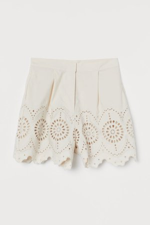 Cotton Shorts - White