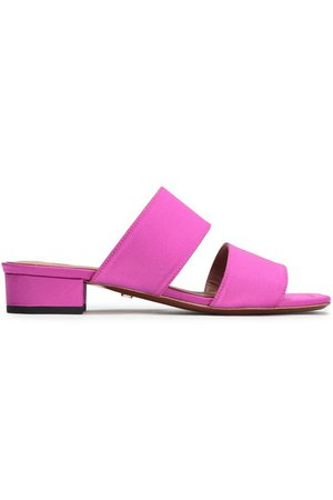 Satin mules | ALEXACHUNG | Sale up to 70% off | THE OUTNET