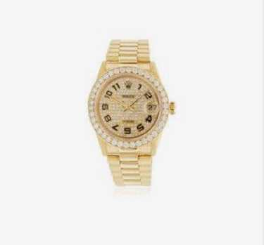 Rolex Gold and Diamond Watch